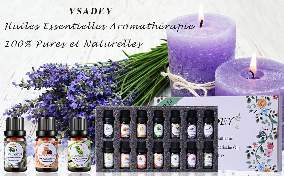 VSADEY Huiles Essentielles Aromathérapie Top 14