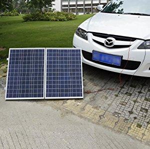 eco worthy 50w 12v panneau solaire pliable portatif polycristallin avec la valise solaire. Black Bedroom Furniture Sets. Home Design Ideas