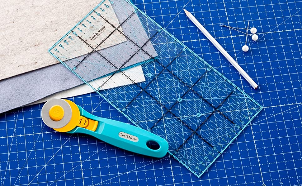 Paintersisters Tapis de Coupe a1 60x90cm Auto-gu/érison Les Deux c/ôt/és printedcm et Pouces