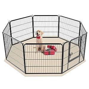 parc pour chien rond