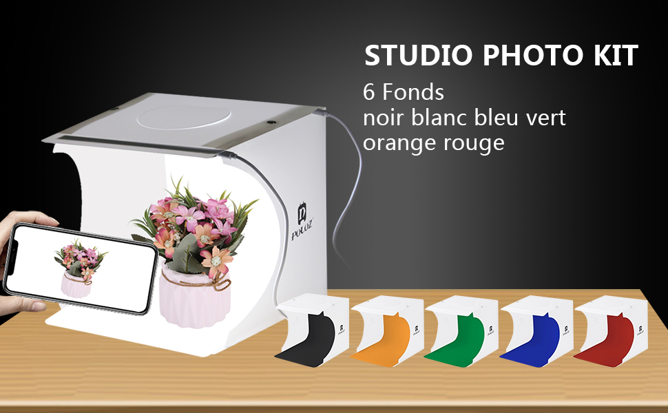 PULUZ 80cm Photographie Lightbox Photo /éclairage Studio de Prise de Vue Tente Kits de bo/îte