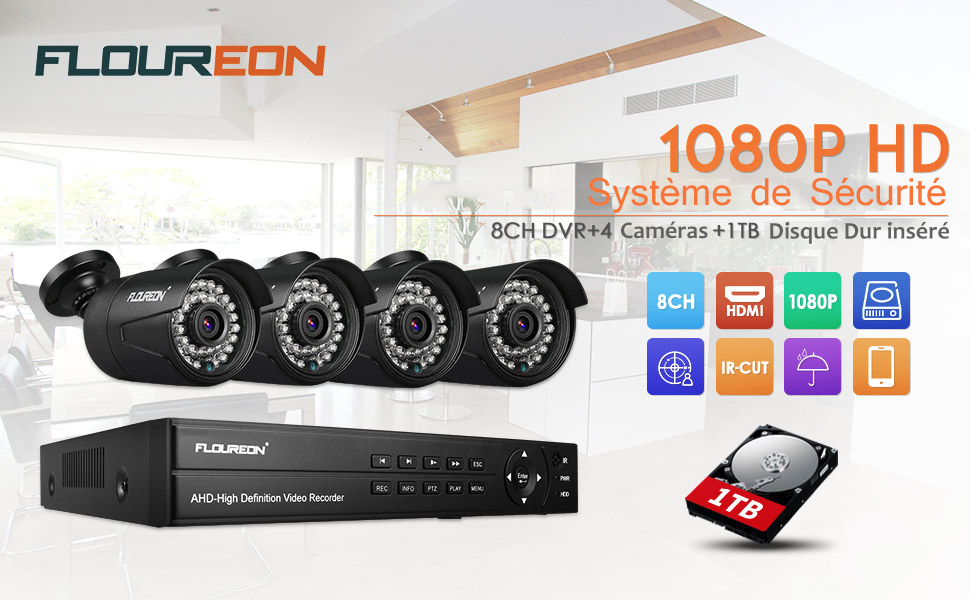 kit de surveillance système de sécurité camera de surveillance video recorder