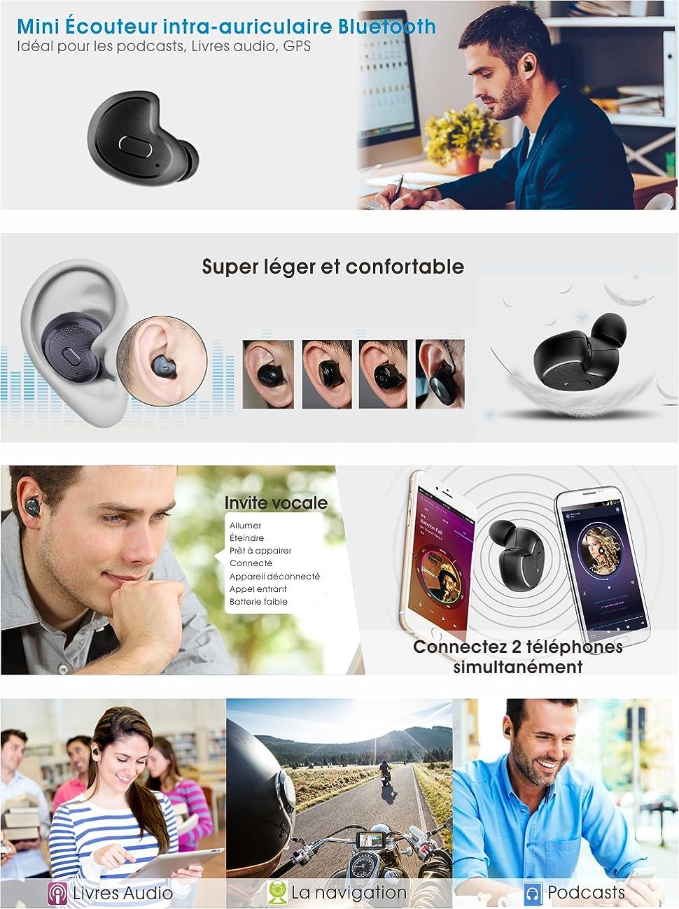 Avantree Mini écouteur Bluetooth pour Podcasts, Livres Audio