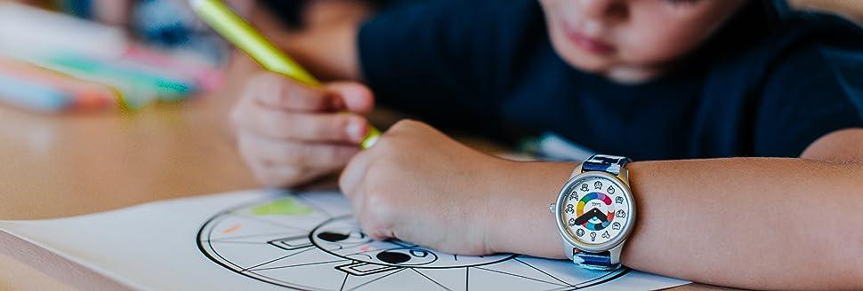 montre enfant enfants petit garçon fille twistiti ouistiti wistiti pédagogique ludique apprentissage