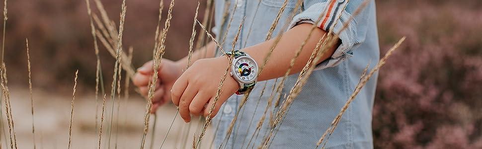 montre enfant enfants montres garçon fille 2 3 4 5 6 ans exterieur analogique quartz resistant choc