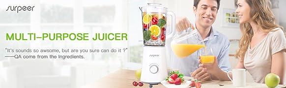 Mini Blender,SURPEER Blender Smoothie,Mixeur Blender,2