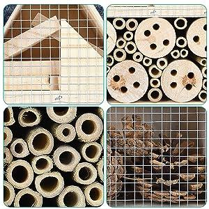 matériaux compartiments grillage bois pin