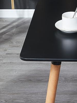 table salle a manger noir