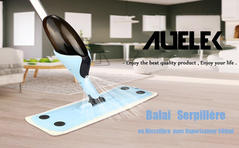 AUELEK Balais Serpill/ère Balai Lave-Sol Vaporisateur 500ml
