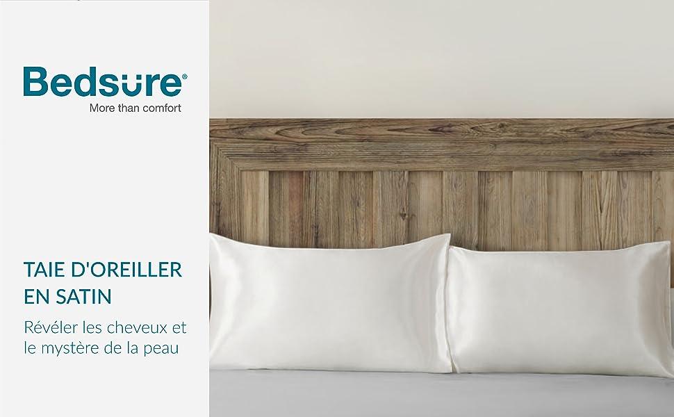 Coussin oreiller Housse Coussin en brillant-design couleur Ivoire//Blanc