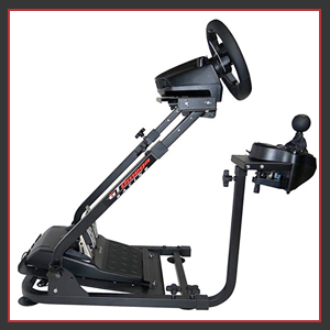 Our wheel stand has high-quality anti sliding rubber fully adjustable height angle tilt pedals