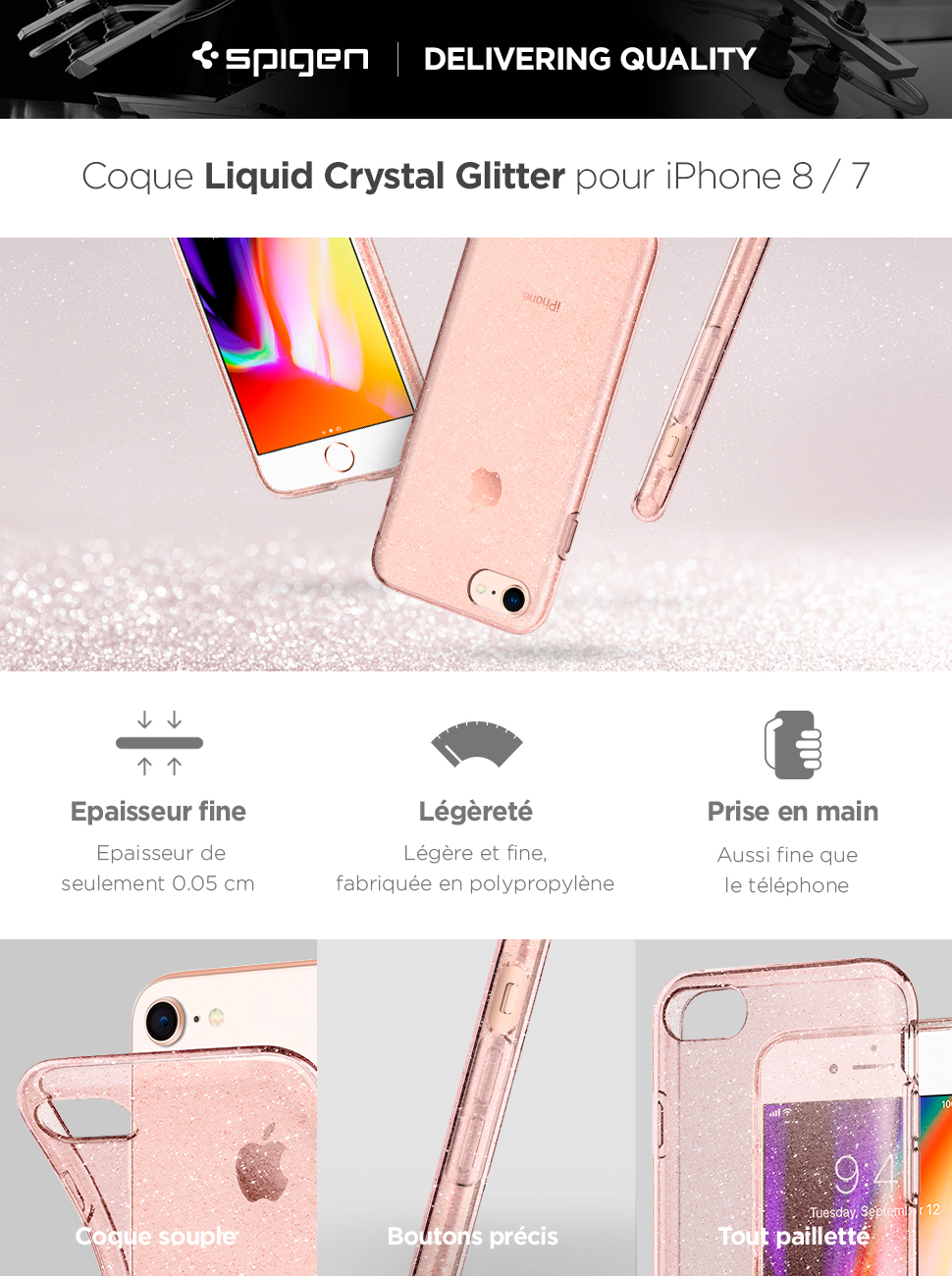 coque iphone 8 plus spigen glitter