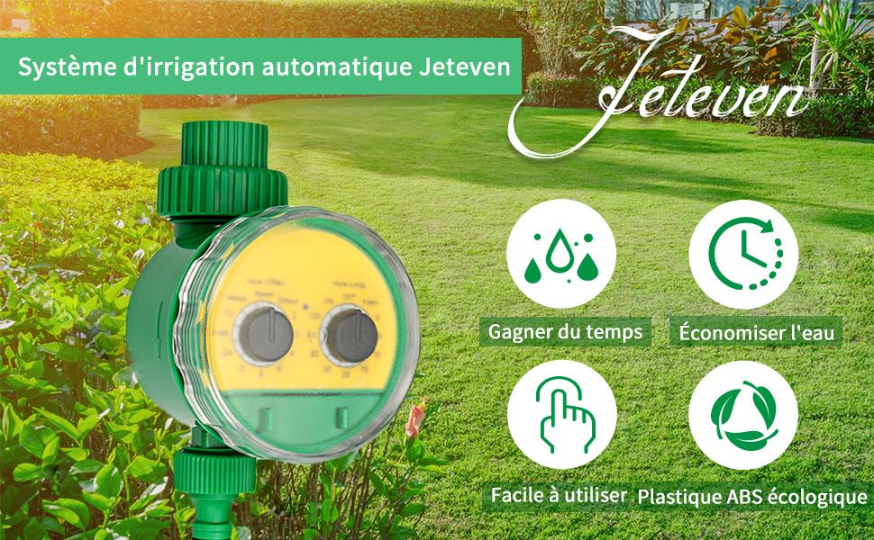 pelouse HunterBee Arroseur automatique /étanche avec minuterie de sortie programmable pour jardin agriculture ext/érieur