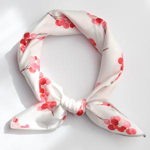 Cœur Amour foulard tube avec soie /& Coton blanc écharpe en soie écharpe tube
