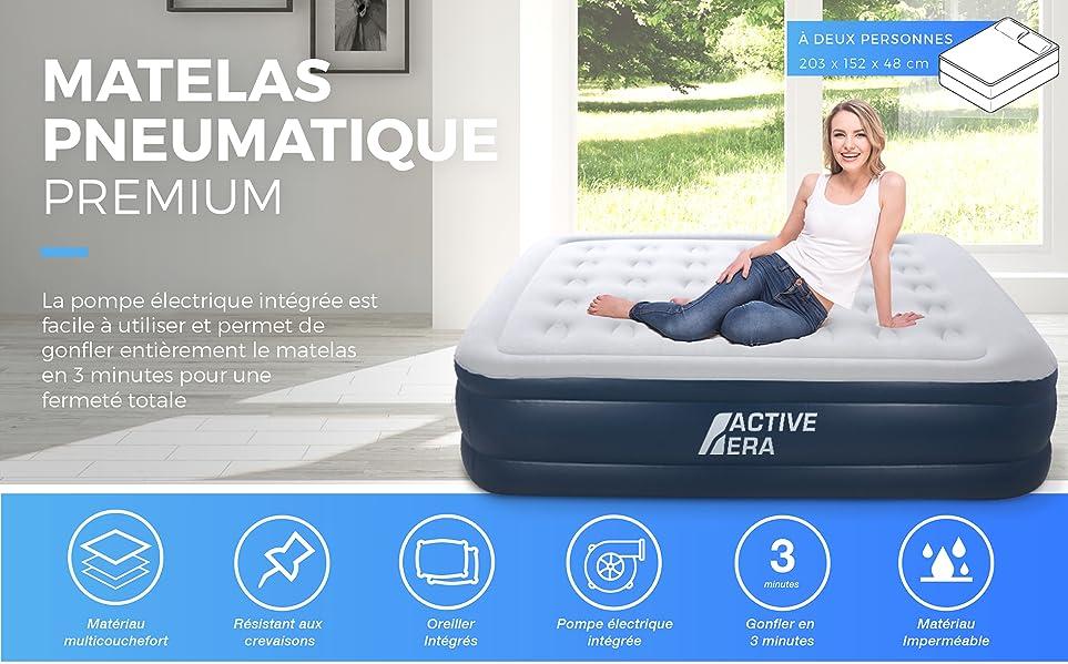 active era matelas pneumatique premium deux personnes. Black Bedroom Furniture Sets. Home Design Ideas