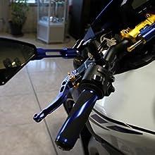 blau//schwarz 1 Paar kurze Hebel aus eloxiertem Aluminium f/ür GSXS 750 GSX-S 2017-2018