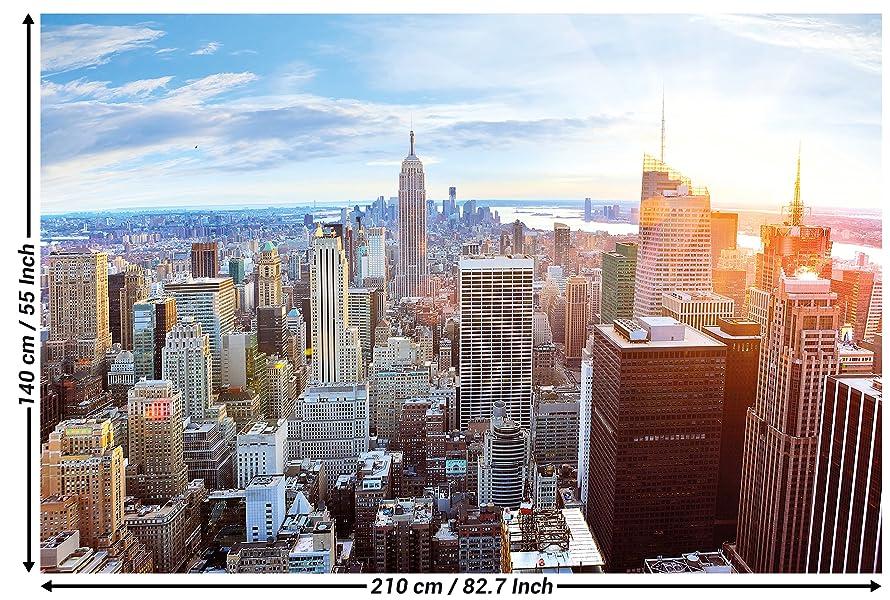 Foto Murales New York.Grand Art New York Skyline Papier Peint Mural Manhattan Penthouse 82 7x55 Pouces 210x140 Cm