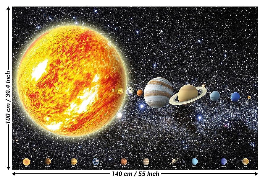 affiche de d coration murale de plan tes du syst me solaire cosmos galaxie espace univers tout. Black Bedroom Furniture Sets. Home Design Ideas