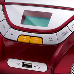 Lauson Lecteur Cd Radio Portable Bluetooth Usb Radio Stéréo Cd Lecteur Mp3 Pour Enfant Prise Casque Aux In écran Lcd Batterie Non