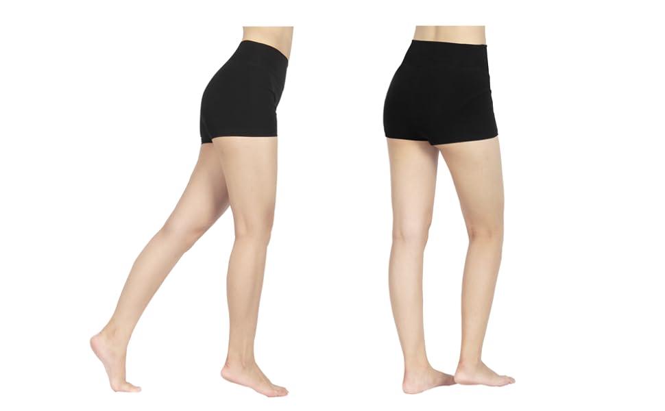 Haute Taille Uni De À Short S Couleur Femme Sport Confortable 4how Xl 6fYgybI7v