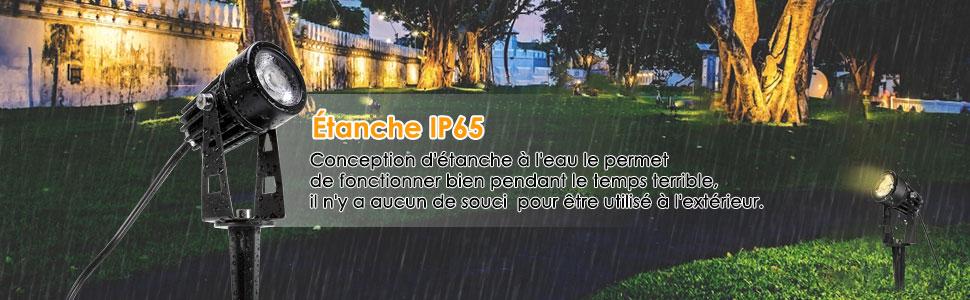 Eclairage Exterieur de Jardin, GreenClick Spot LED Extérieur Projecteur  avec Piquet et IP65 Etanche 3000K Blanc Chaud 12W 1080Lumens Lampe  Extérieur ...