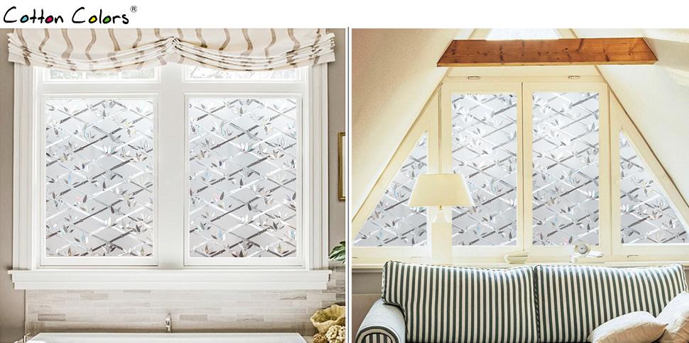 cottoncolors film adhesif decoratif de bambu pour fen tre vitrage 3d statique autocollant film. Black Bedroom Furniture Sets. Home Design Ideas
