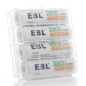 EBL Piles Rechargeables AA