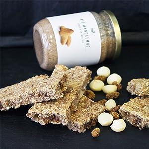 purée d'amandes mandel sain et naturel dessert léger sucré barres céréales amande BIO 100% pur