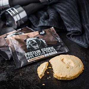 cookie protéiné alimentation sportifs compléments nutriments boosters bon goût devenir musclé