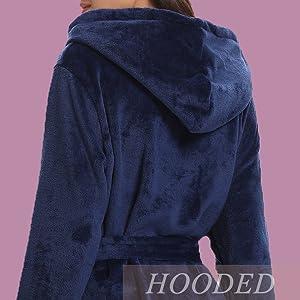 Automne et Hiver Plus Pyjama en Velours-A/_M BLACK ELL pour Robe De Chambre en Molleton,Flanelle Sortie De Bain Hiver Peignoir,Pyjama /à Capuche en Velours Corail