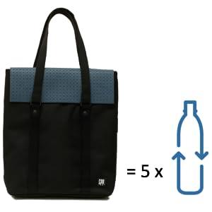 sac ordinateur femme cabas convertible en sac à dos 13 pouces sac en plastique matière recyclée PET