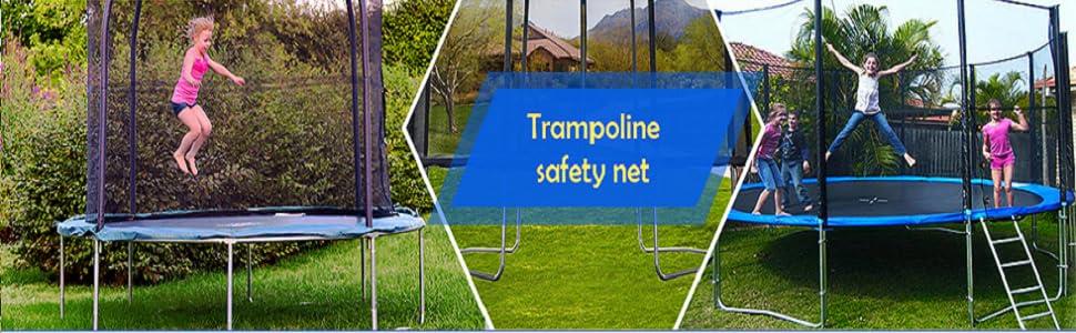 Noir//Bleu//Vert//Rose ULTRAPOWER SPORTS Filet de Remplacement pour Trampolines Filet de s/écurit/é pour Trampolines /Ø 244 305 366 397 430 cm
