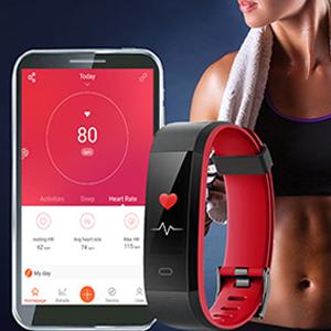 Montre Connectée Bracelet Connecté Podometre Smartwatch Écran Couleur Etanche IP68 Femme Homme Sport