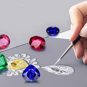 JewelryPalace Pendentif Collier Femme Spinelle /Étoile Bleu Yeux Noir Grenat Rubis de Synth/èse Rose Vintage L/èvre en Argent Sterling 925