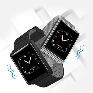 TECKEPIC N98 Montre Connectée Ecran Tactile Complet Sport Affaire Bracelet Connectée Etanche Fitness Podomètre Distance Calories Cardio Fréquencemètre ...