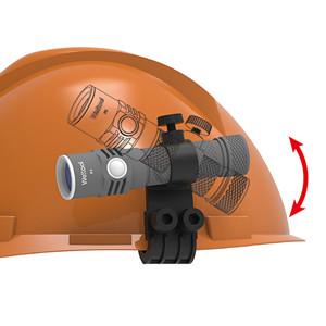 Porte-Lampe de Poche de Casque Support Clip Montage de Torche Electrique Accessoire de Glissi/ères-Guides Lib/ération Rapide pour Casque Fast Tan