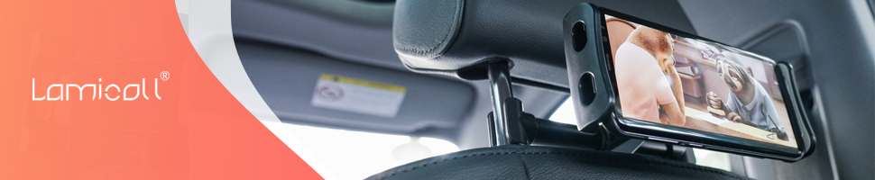 Porte Tablette//T/él/éphone pour Appui-t/ête Universel Auto Tablettes et Smartphone. Rotation 360/° SWIHEL Support Tablette Voiture Rouge Taille R/églable 4~11 Pouces pour IPad