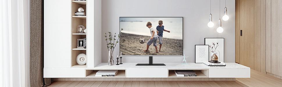 Mounting Dream Meuble Tv Orientable Support Tv Avec Base En Verre Trempe Pour La Plupart Des Televiseurs Plasma Led Lcd Oled De 42 A 60 Pouces