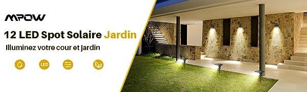 spot exterieur lampes solaires jardin led panneaux solaire