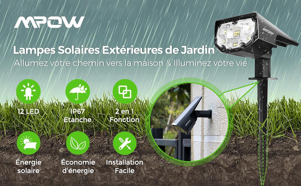 led solaire projecteur solaire applique solaire spot led solaire lampe detecteur de mouvement