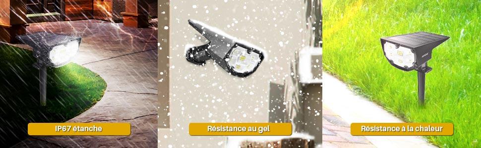 applique exterieure éclairage extérieur sans fil projecteur led exterieur detecteur de mouvement