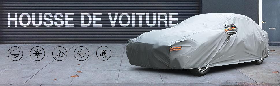 Couverture de voiture Compatible Avec Chrysler 300C Cover Couverture De Voiture Protection Solaire Couverture En Tissu Oxford Quatre Saisons For Voiture