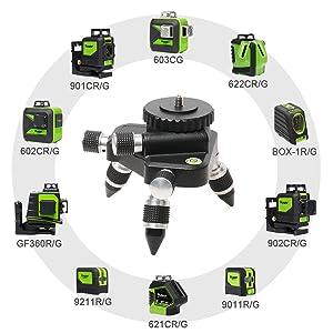 Compatible avec ¡ñCompatible avec tous les niveaux laser Huepar et tous les appareils du marché dotés d'un filetage femelle de 1/4