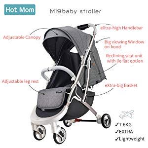 Hot Mom super Light Buggy Super Light Cannes poussettes Mini T Gris