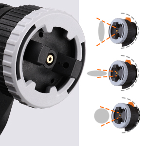 Trois modes de pulvérisation: Horizontal / Vertical / Circular