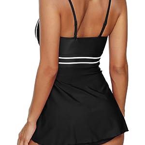 b4425082f Leslady Femme Bikini Robe Maillot Une Pièce Taille S-5XL Eté Elégant  Beachwear Cache-Ventre