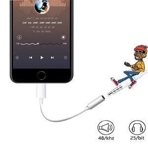 lightning jack adaptateur lightning  earphone adaptateur headphone jack