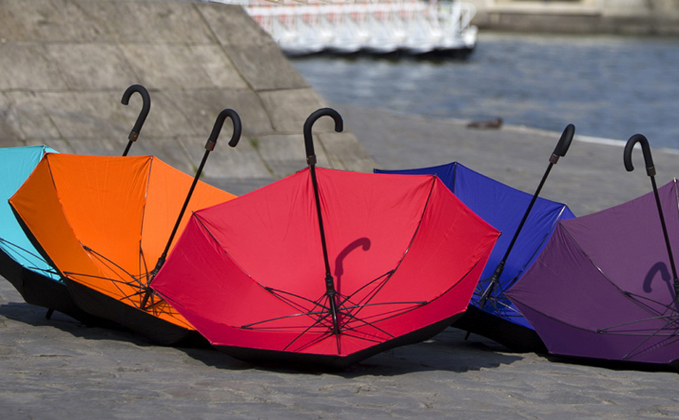 smati parapluie canne long homme double