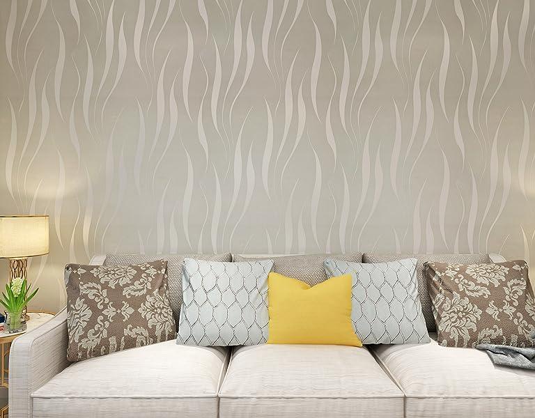 Hanmero papier peint moderne intissé motif avec rayures d flocage