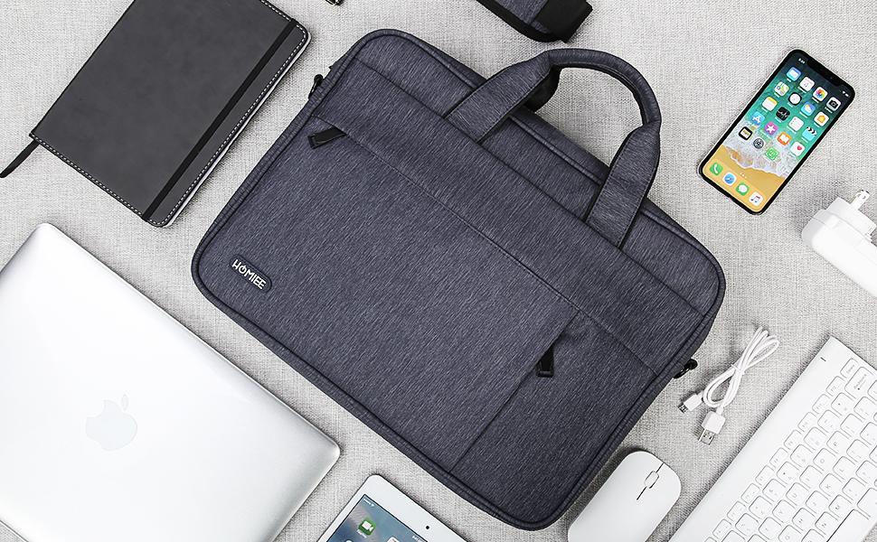 Donkey pc Mallette Ordinateur portable avec Poches Sac /à Bandouli/ère Homme Femme Confortable Sacoche pour Ordinateur Portable 15.6 Porte-documents portable.